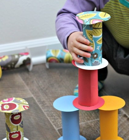 DIY Toys Toilet Paper Building Blocks